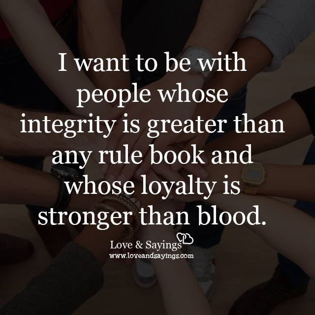 I want to be with people whose
