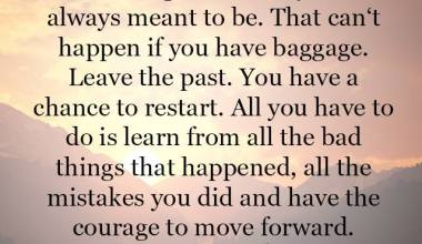 The Courage to move forward