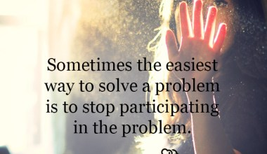 Sometimes the easiest way to solve a problem