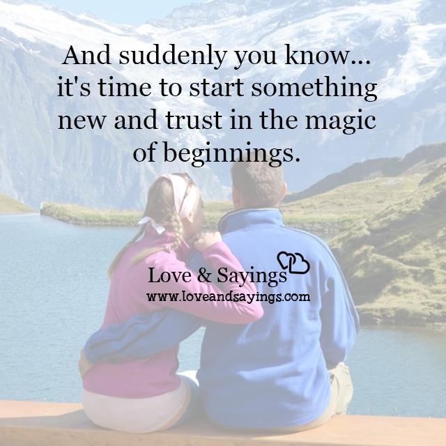 Trust in the magic or beginnings