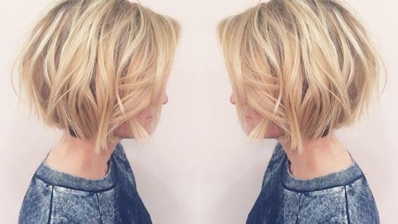 layered, short bob haircut – balayage short hairstyles