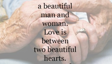 Love is between two beautiful hearts