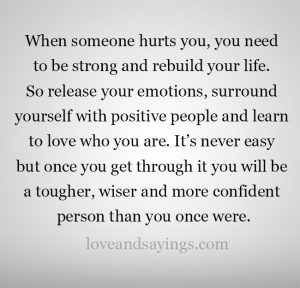 Rebuild your life after the hurt