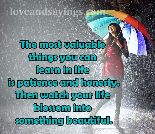 The most valuable things you can learn in life