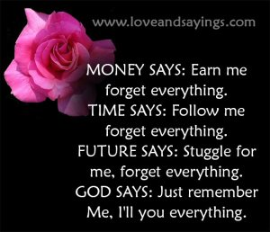 Follow me forget everything