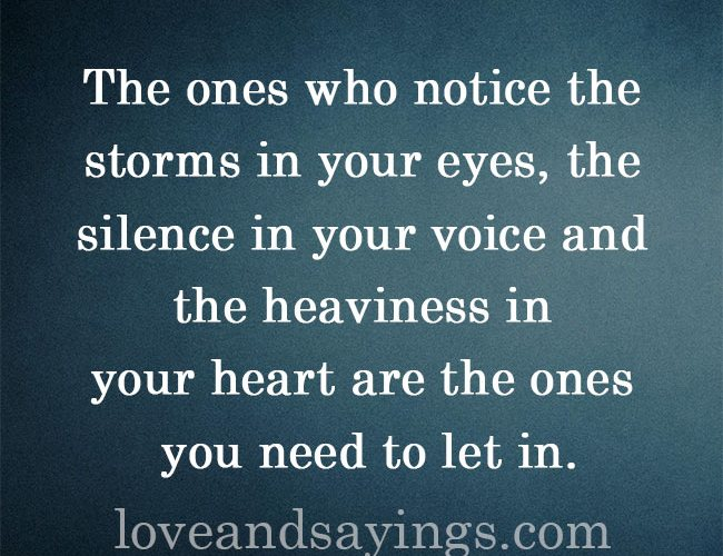 The ones you need to let in