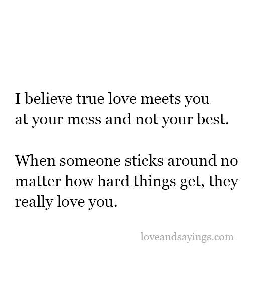 I Believe True Love Meets You