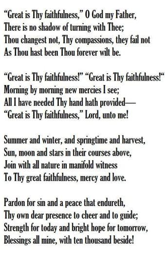 written by Thomas Chrisholm (1866-1960)