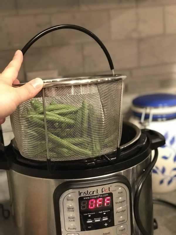 Steam basket instant pot green beans