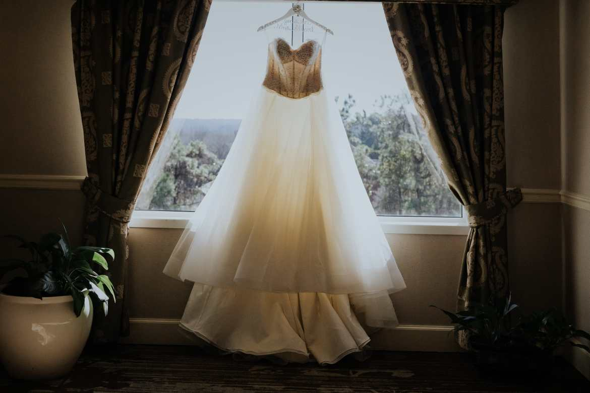 Atlanta Wedding Photographer Bride Custom Wedding Dress