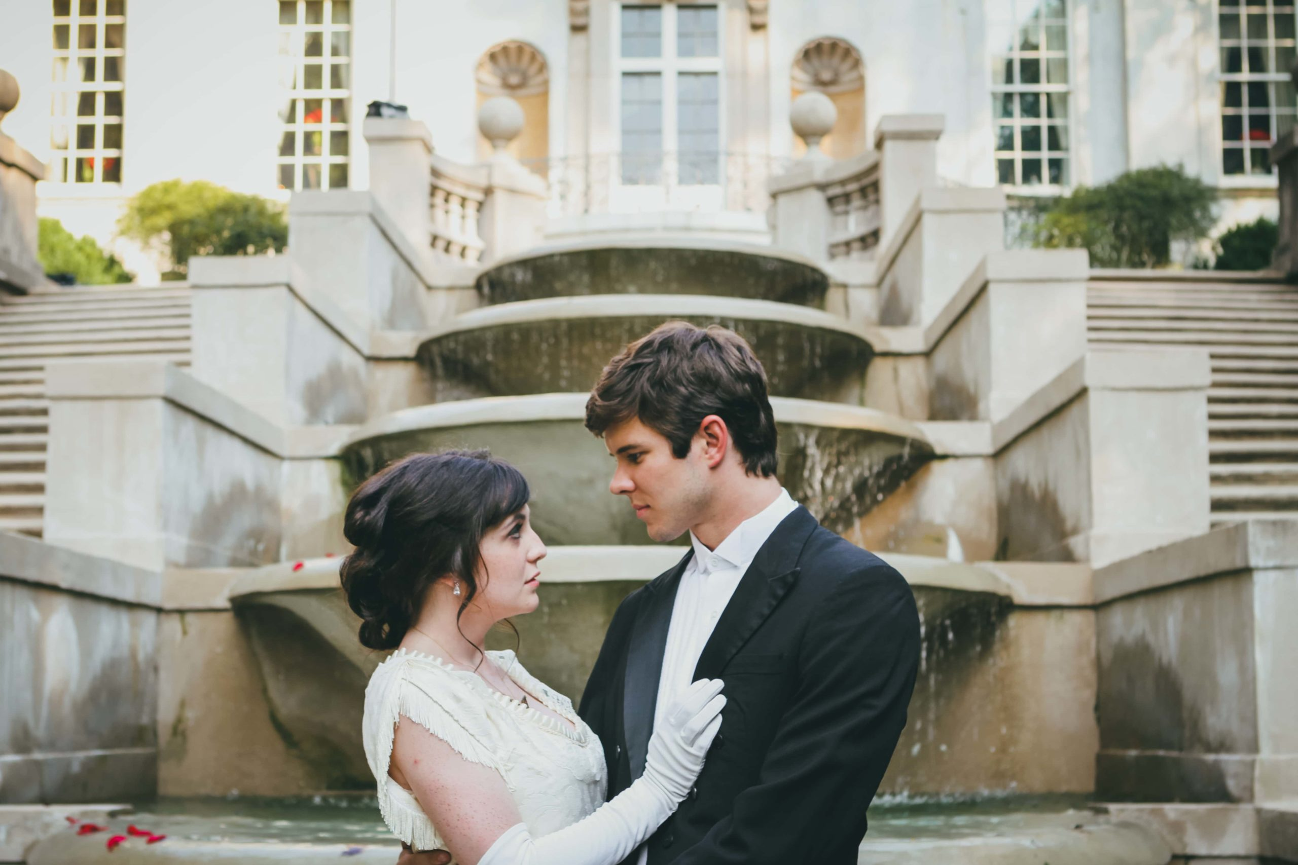 Swan House Engagement Session Love & Story Photographers