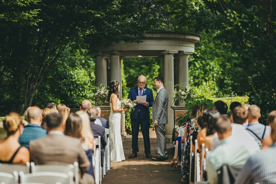 Atlanta Botanical Gardens Trustee Garden Wedding Intimate Wedding Ceremony
