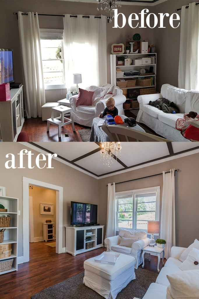 Easy home staging before after