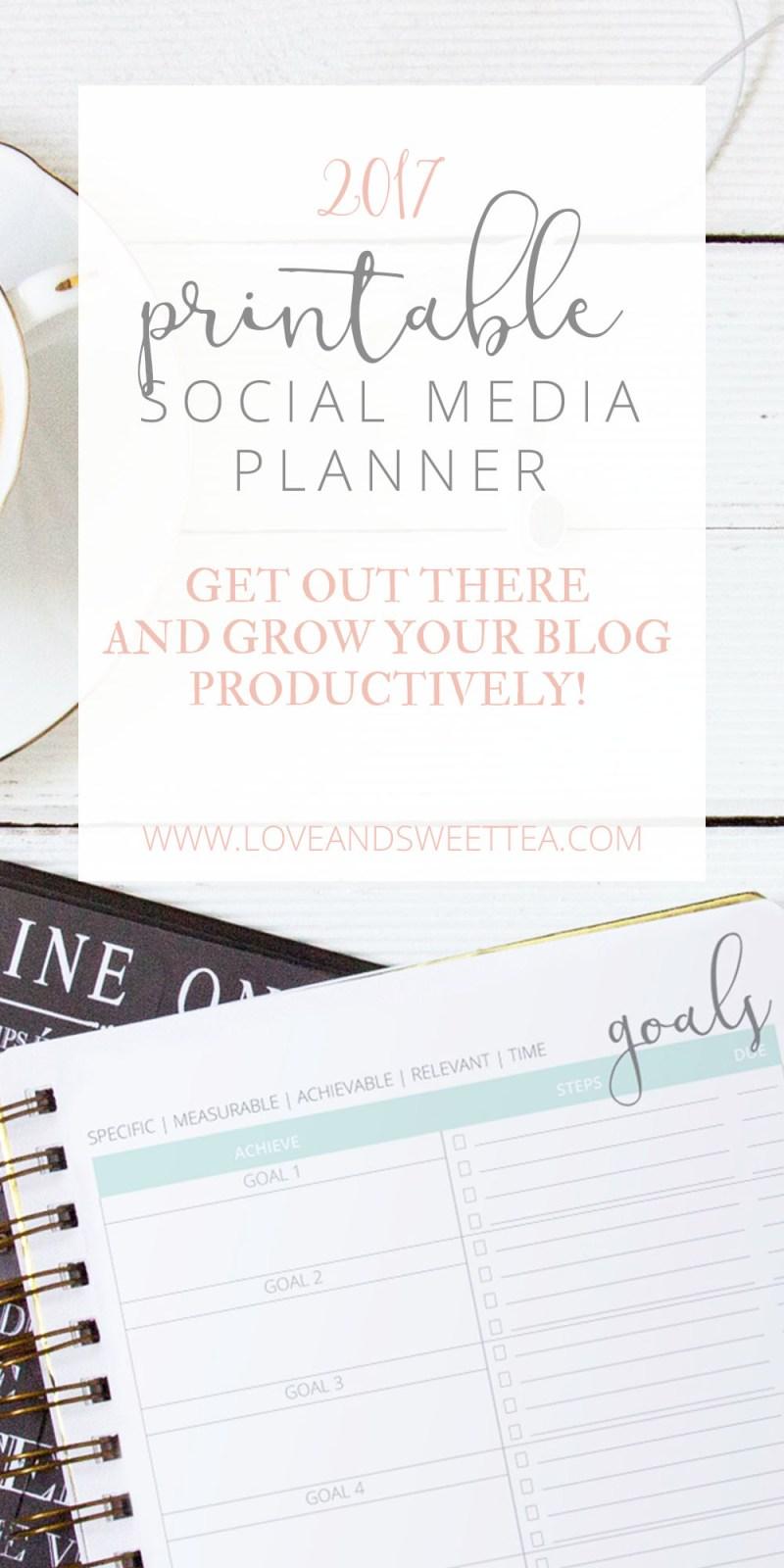 2017 blogging planner, printable planner for bloggers, printable planner, planner printable