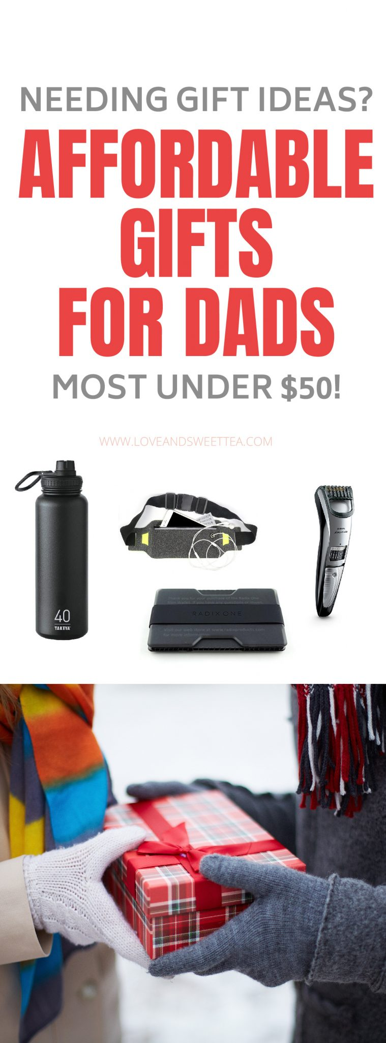 Guys can be so hard to buy for, but this gift guide will help you find the perfect gift for any guy in your life, from dads, to boyfriends, to husbands and father-in-law. It's a great gift guide for guys who work out, golf, have a beard (or not), guys who like music and even guys who you don't know anything about. Something for every guy on this list.