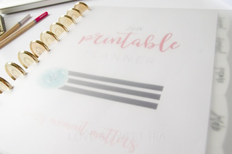 How to bind a printable planner. I've found the perfect way to bind my new planner!