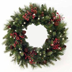 Cordless Pre-lit Wreath