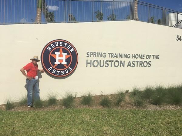 Houston Astros Spring Training Sign