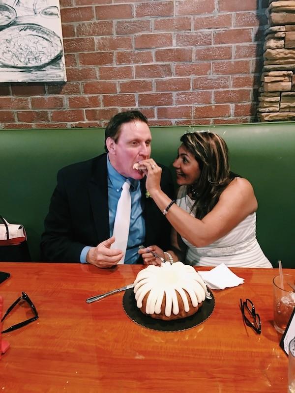 Wedding Cake Bride Feeding Groom
