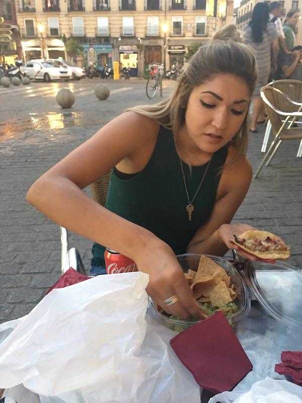 Sami Eating Tacos In Madrid