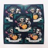 4x1 musical skeleton stickers love and tacos