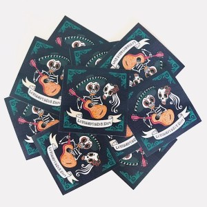 group of musical skeleton stickers love and tacos