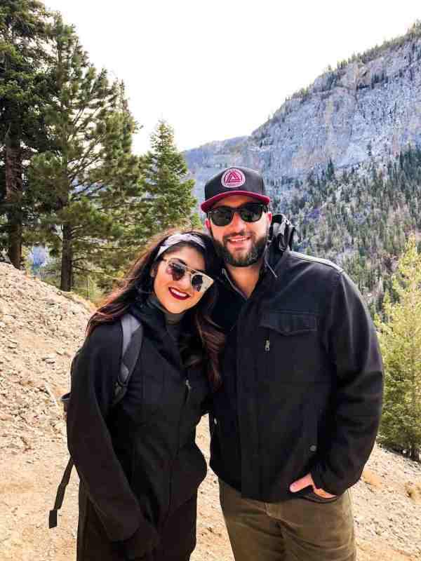 Husband And Wife Hiking Mount Charleston
