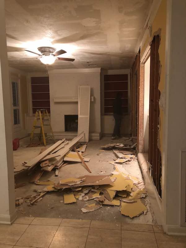 Home Renovation Living Room