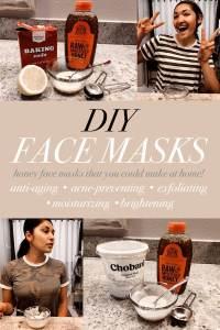 DIY Face Masks Pinterest image