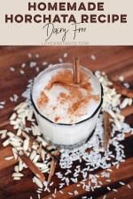 Homemade Horchata Recipe Pinterest Image