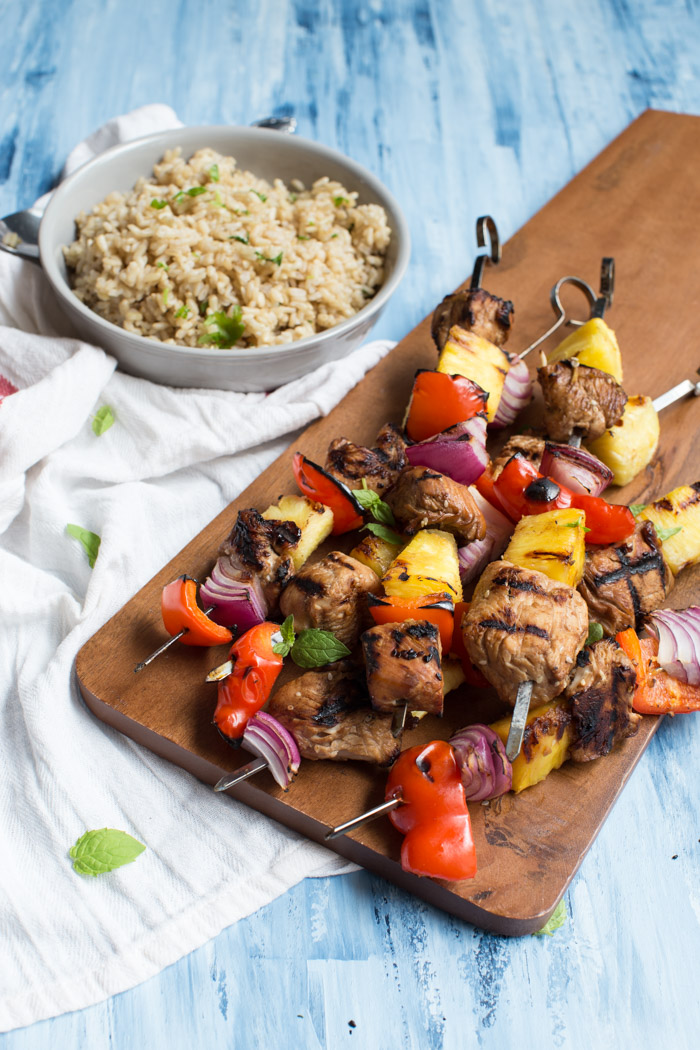 Gluten-free Grilled Hawaiian Turkey kabobs