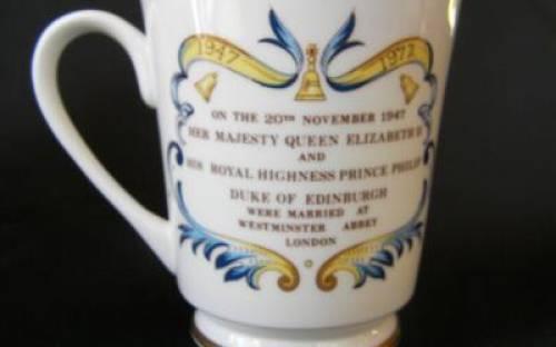 エインズレイ エリザベス女王 ご結婚25周年記念カップ