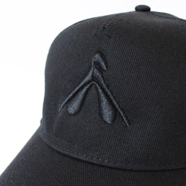 12 – casquette noire – My pleasure noir – detail