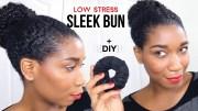 sleek bun withminimum stress diy