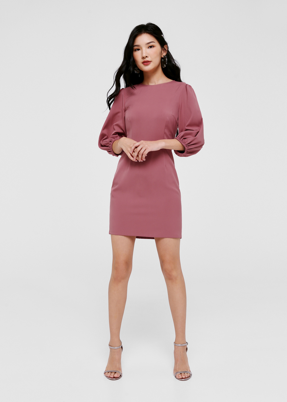 Kayleigh Balloon Sleeve Mini Dress