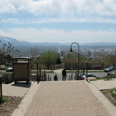 Ensign Peak Trail in Salt Lake City Utah