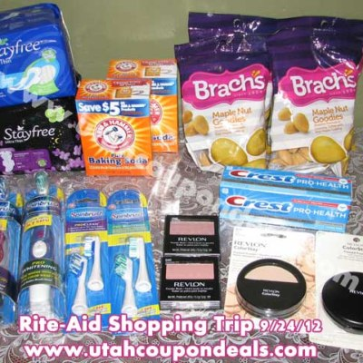 Rite-Aid Shopping Trip 9/24/12 – Spent $3.55 – Save $103.55