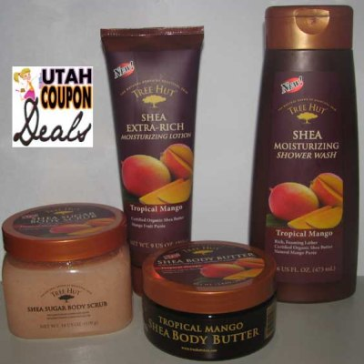 GIVEAWAY: Tree Hut Shea Tropical Mango Products (Lotion, Body Wash, Body Butter, and Sugar Scrub)