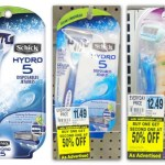 $4 off Schick Hydro Coupons = as low as $0.35 a razor at Rite Aid!