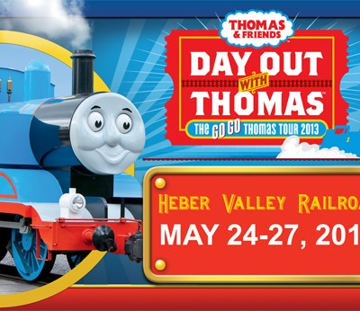 GIVEAWAY: Family 4-pack of tickets to the HEBER VALLEY RAILROAD Day Out With Thomas (ends 5/7)