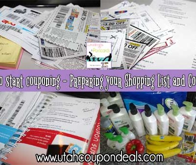 How to start couponing – Preparing your Shopping List and Coupons (Week 4)