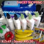 Target Shopping Trip 9/18/13 – Spent $15.69 – Saved $85.50