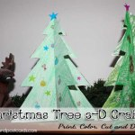 Printable Coloring Page Christmas Tree 3-D Craft