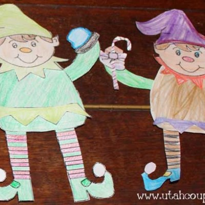 Printable Elf Craft (color, cut, glue)