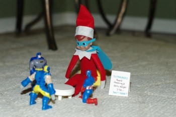 Elf on the Shelf Ideas - Super Hero Elf