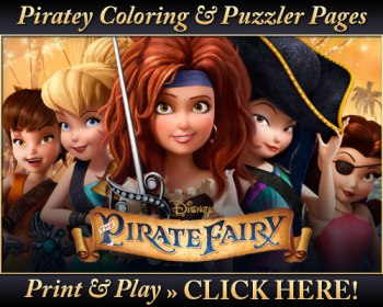 The Pirate Fairy Fun & Crocky Clips + The Pirate Fairy Coloring Pages