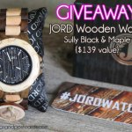 GIVEAWAY: JORD Wooden Watch – Sully Black & Maple {$139 value} (ends 5/23)
