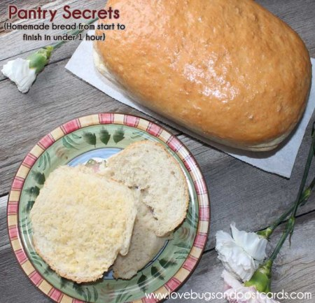 Pantry Secrets Review {Homemade bread from start to finish in under 1 hour}