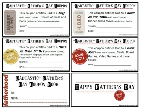 """Dadtastic"" Fathers Day Coupons"