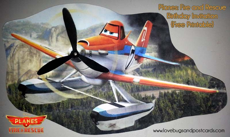 planes fire and rescue birthday